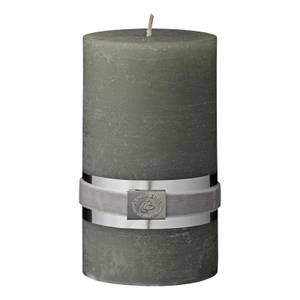 Bilde av Rustikk støvet grønn kubbelys Ø: 12,5 cm