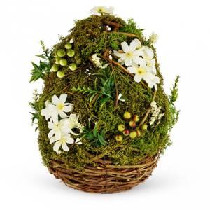 Bilde av Dekorasjons egg m/hvite blomster 28X14CM
